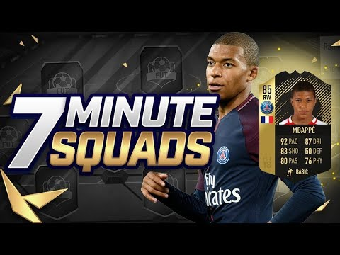 THE GOLDEN BOY 🔥 INCREDIBLE INFORM MBAPPE 7 MINUTE SQUADS (FIFA 18)