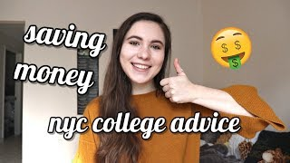 tips for saving money in college & nyc