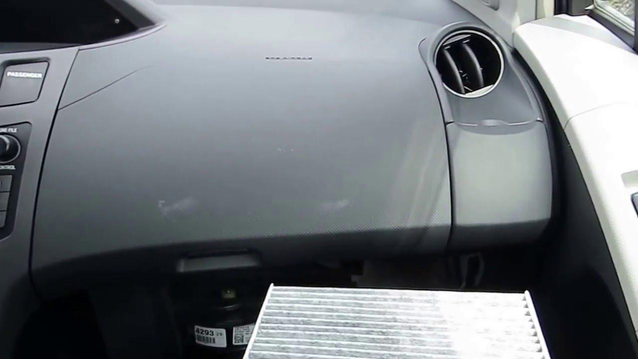 Toyota Yaris Ii 2 Wymiana Filtra Kabinowego