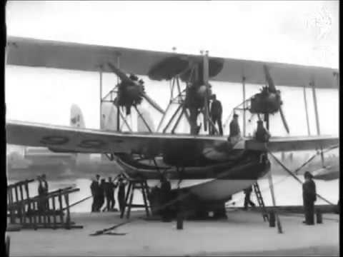 Supermarine Works on the River Itchen at  Woolston in the 1920s