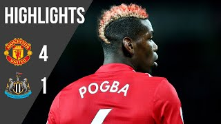 Manchester United 4-1 Newcastle | Premier League Highlights (17/18) | Manchester United