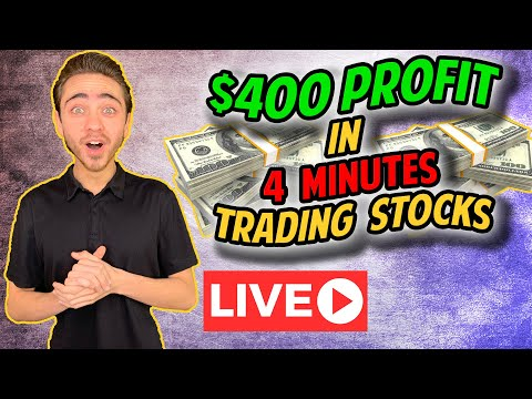 Live Day Trading - $400 Profit in 4 Minutes | How To Trade Stocks and Options