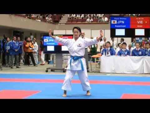 kiyou shimizu  suparimpei  asian karate championships 2015