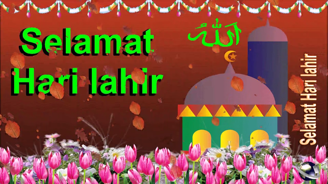 0 284 malay 25 seconds happy birthday greeting wishes includes islam masjid by bandla
