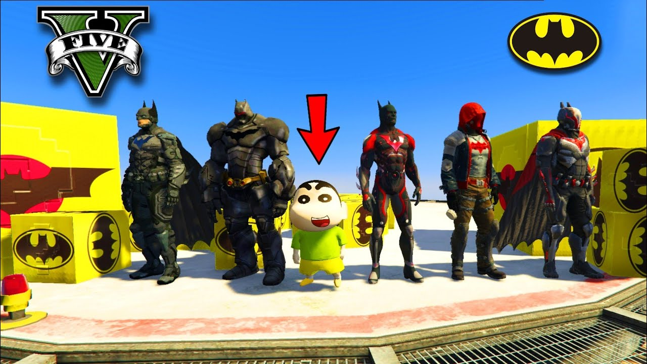 GTA 5 : SHINCHAN OPENING RARE BATMAN LUCKY BOXES IN GTA V !