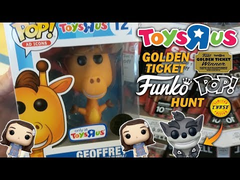 Golden Ticket Toys R Us Funko Pop Hunt (CHASE!)