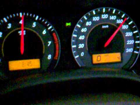 Corolla Altis 1 8 Top Speed 2011 Youtube