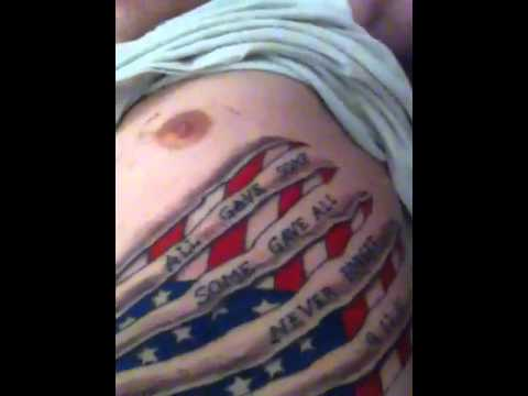 American flag rib tattoo youtube for American flag tattoos pictures