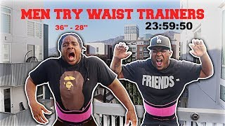 WE WORE WAIST TRAINERS FOR A DAY!! (horrible idea)