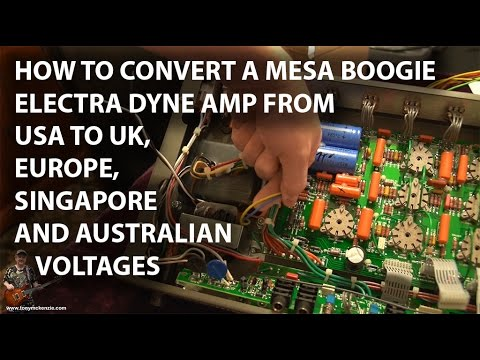 How to Convert a Mesa Boogie Electra Dyne to 240 volts with new Power Transformer : tonymckenzie.com