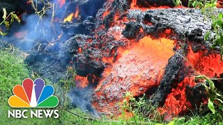 Hawaii's Kilauea Volcano: Eruptions, Geysers, And Lava Streams Flowing Into The Ocean | NBC News