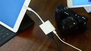Apple Lightning to USB 3 Camera Adapter Review(Buy from Apple: http://apple.co/1REtxK7 ~~ Visit us at iDownloadBlog.com for more Apple news and videos! Download the free iDB app for the latest news!, 2016-03-29T13:11:10.000Z)