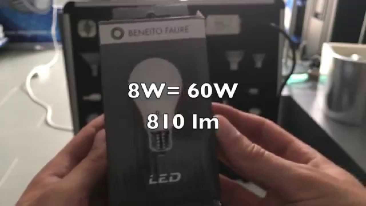 test samsung led standard 8w 60w e27 led light bulp 60w youtube. Black Bedroom Furniture Sets. Home Design Ideas