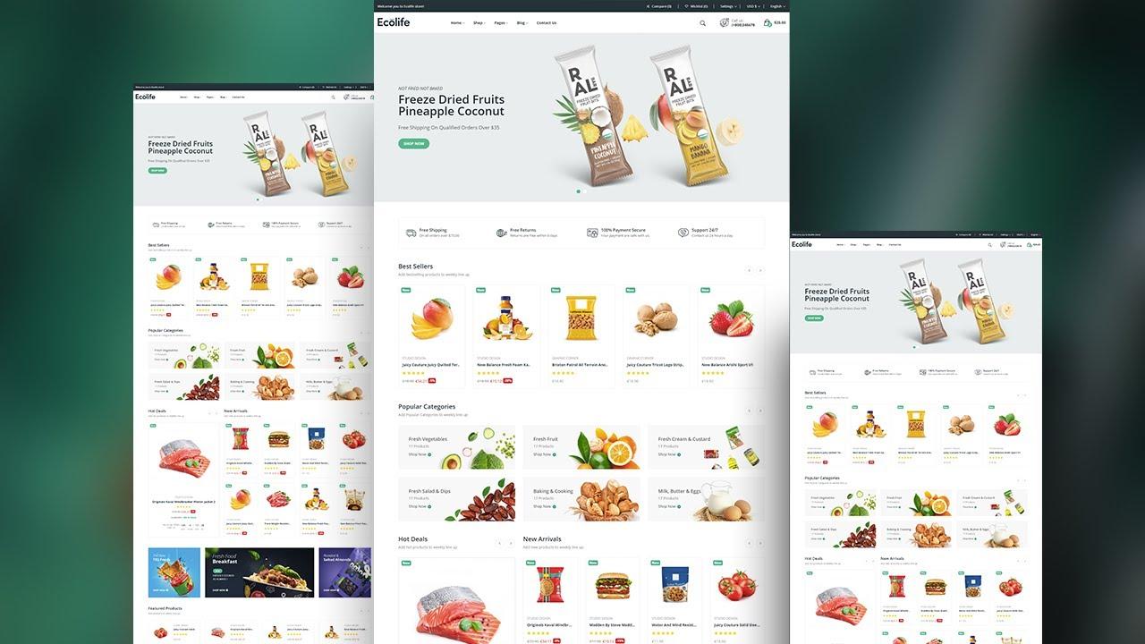 Creative Website Template Design using HTML, CSS - Web Design