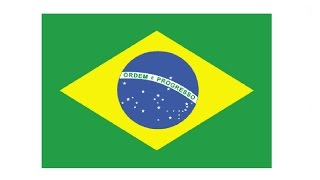 How to Draw a Brazilian flag / Как нарисовать Флаг Бразилии