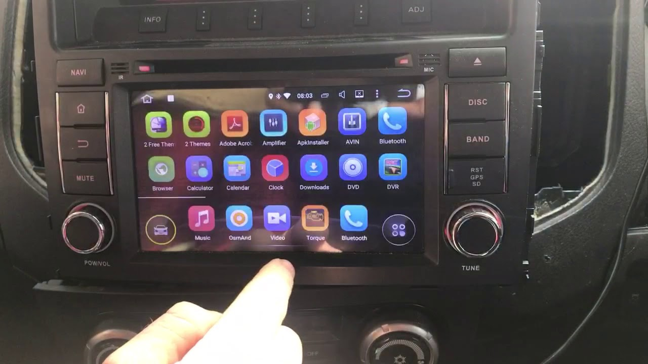 Dig Options In Dash Dvd Gps For Mitsubishi Pajero Rockford