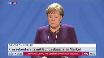 Live: Pressekonferenz mit Bundeskanzlerin Merkel zum Shutdown in Deutschland