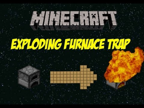 Minecraft: How To Make an Exploding Furnace Trap - YouTube