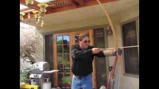 Homemade American Style Hardwood Longbow