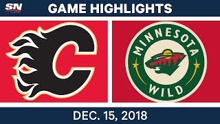 NHL Highlights | Flames vs. Wild - Dec 15, 2018