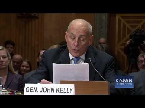 DHS Secretary Nominee Gen. John Kelly (Ret.) Opening Statement (C-SPAN)