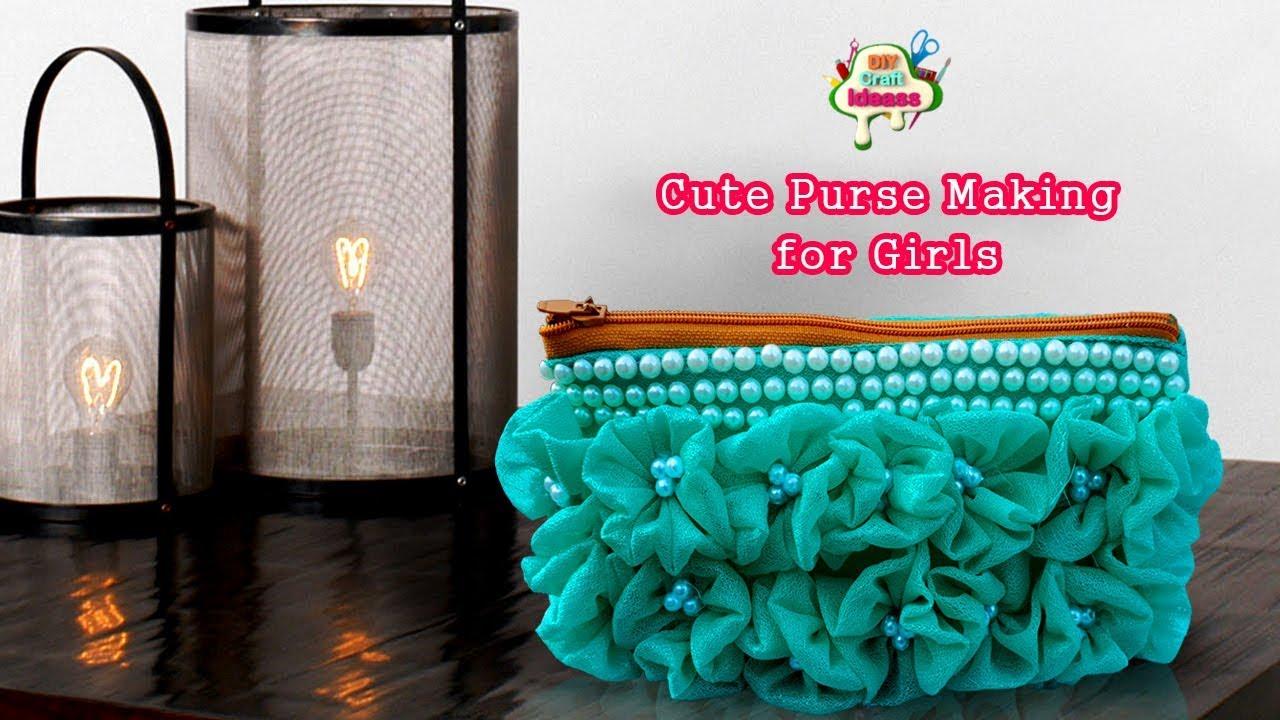 Cute Fabric Purse Making For Girls Easy Fabric Bag Diy Craft