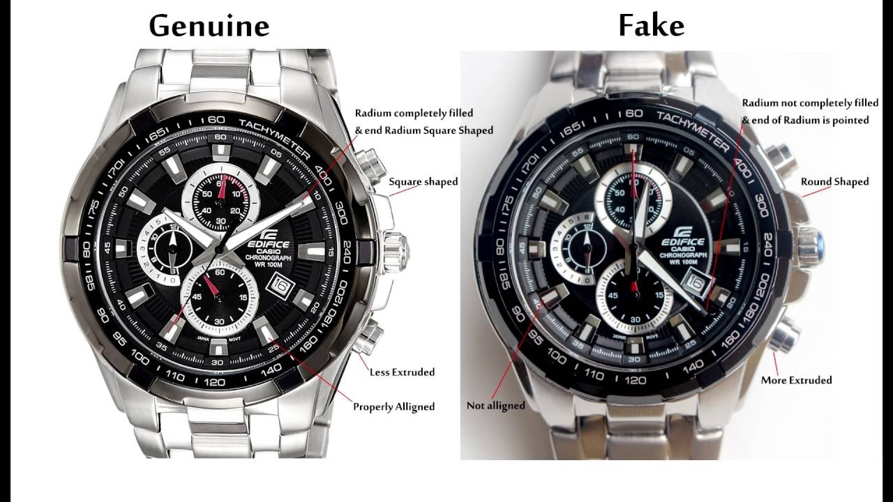 a7f87e8bf81b Casio Edifice EF-539D-1AV Genuine vs Fake - YouTube