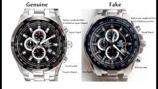 Casio Edifice EF-539D-1AV Genuine vs Fake