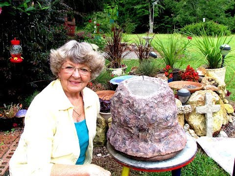 How to make a Portland cement Big Rock for my Church garden In Ga.