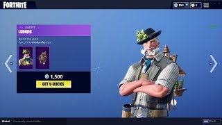 "Fortnite: Item Shop *NEW* ""Ludwig"" and ""Heidi"" skins (9/29/18)