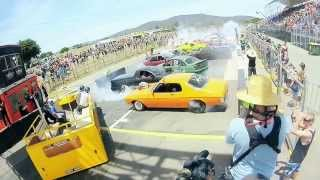 Best burnout EVER! SUMMERNATS smashes its own GUINNESS WORLD RECORD BURNOUT on New Years Day 2015