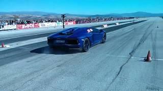 Crazy Car Aventador на състезание по драг в Бг