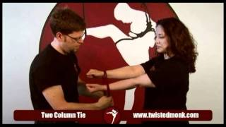 How to tie a basic 2 column tie w/ Twisted Monk