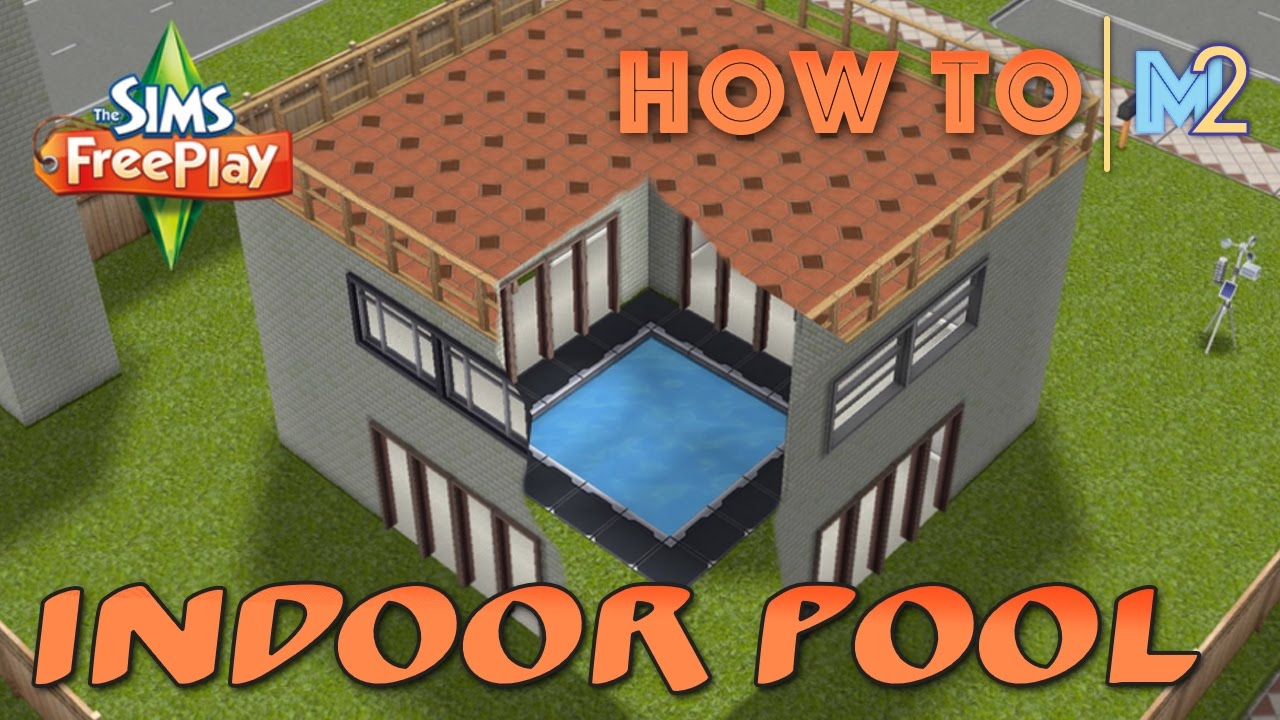 Sims freeplay how to build an indoor pool or garden for Pool design sims 4