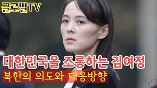 대한민국을 조롱하는 김여정
