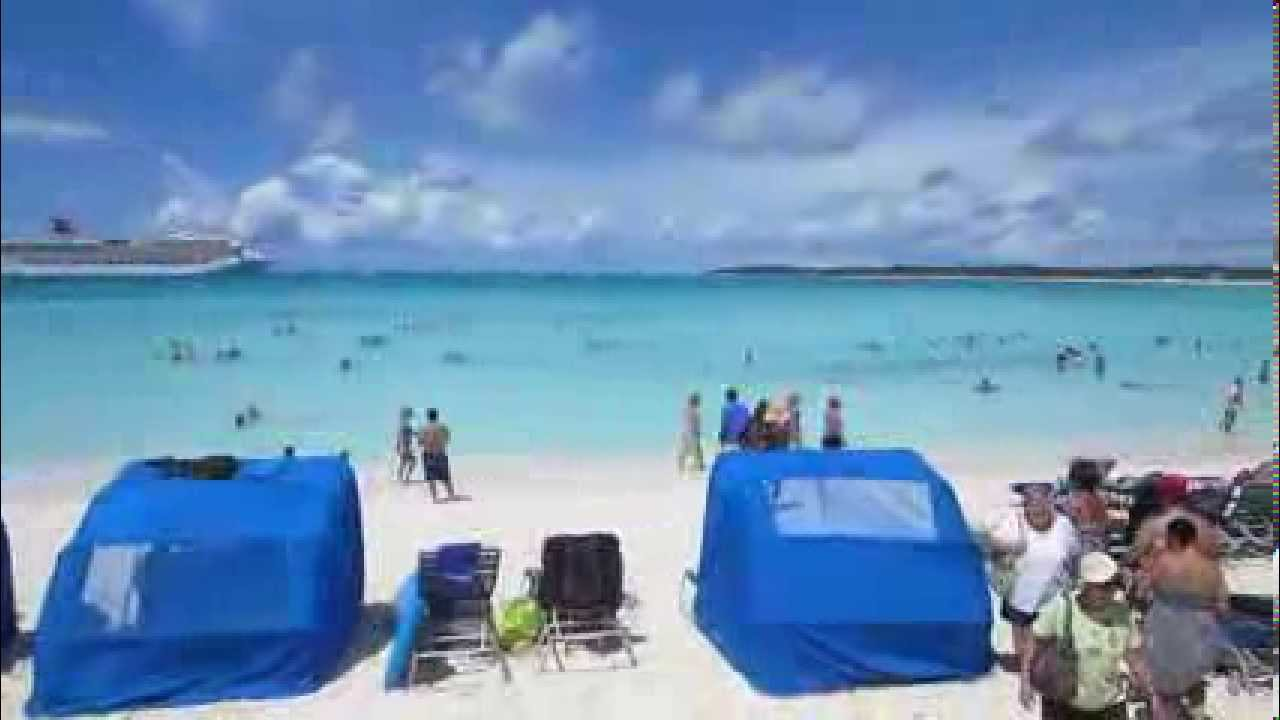 Arriving In The Bahamas At The Port Of Half Moon Cay Youtube