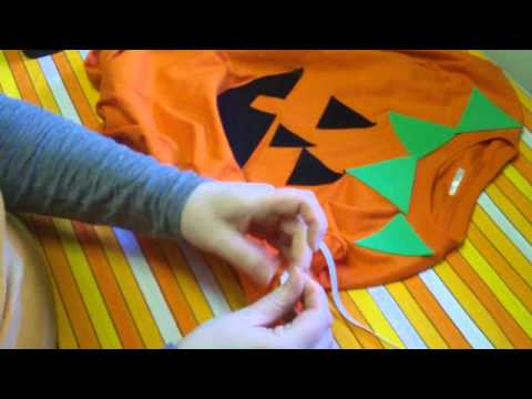 Last Minute Halloween Costume No Sew Pumpkin Youtube