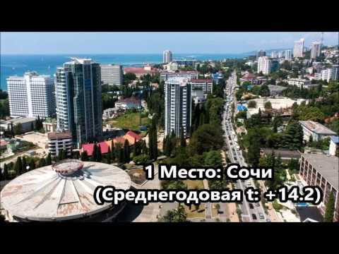 Самые теплые и самые холодные города России