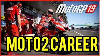 MotoGP 19 Hard Difficulty Moto2 Career Gameplay
