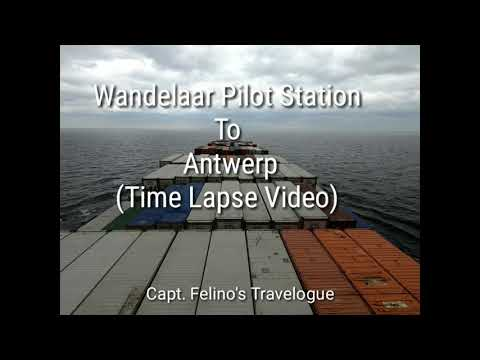 Wandelaar Pilot Station To Europa Container Terminal, Antwerp | Time Lapse