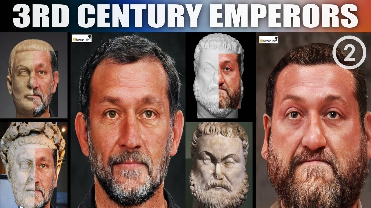 3rd Century Roman Emperors | Realistic Facial Recreations Using AI and Photoshop (Part 2)