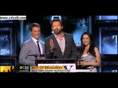 Hugh Jackman 'hijacks' Tony award nominations