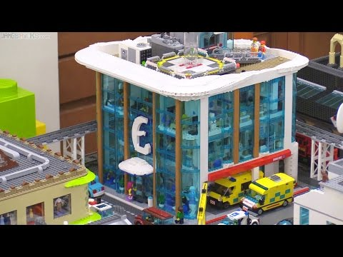 Custom LEGO Hospital  detailed tour 🏥 🚑