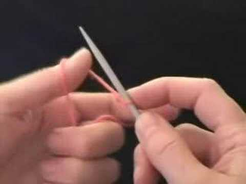 How To Cast On Knitting Stitches Long Tail : Knitting: How to Cast On - YouTube