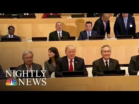 President Donald Trump Meets With World Leaders At U.N. Assembly | NBC Nightly News