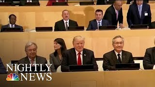 President Donald Trump Meets With World Leaders At U N  Assembly | NBC Nightly News