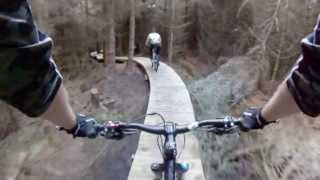 Mountain Biking in Rostrevor, The Fallow Red Trail GoPro MTB HD