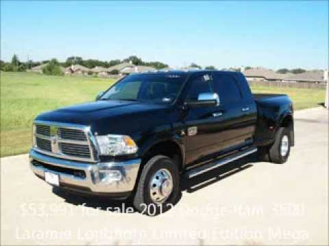 For Sale 2012 Ram 3500 Laramie Longhorn Limited Edition Truck Mega