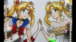 Cómo Dibujar a Sailor Moon Crystal How To Draw Neo Queen Serenity Speed Draw | CarlosNaranjoTV