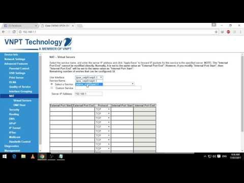 Hướng dẫn mở port AceStream modem Igate GW040 VNPT (HD)